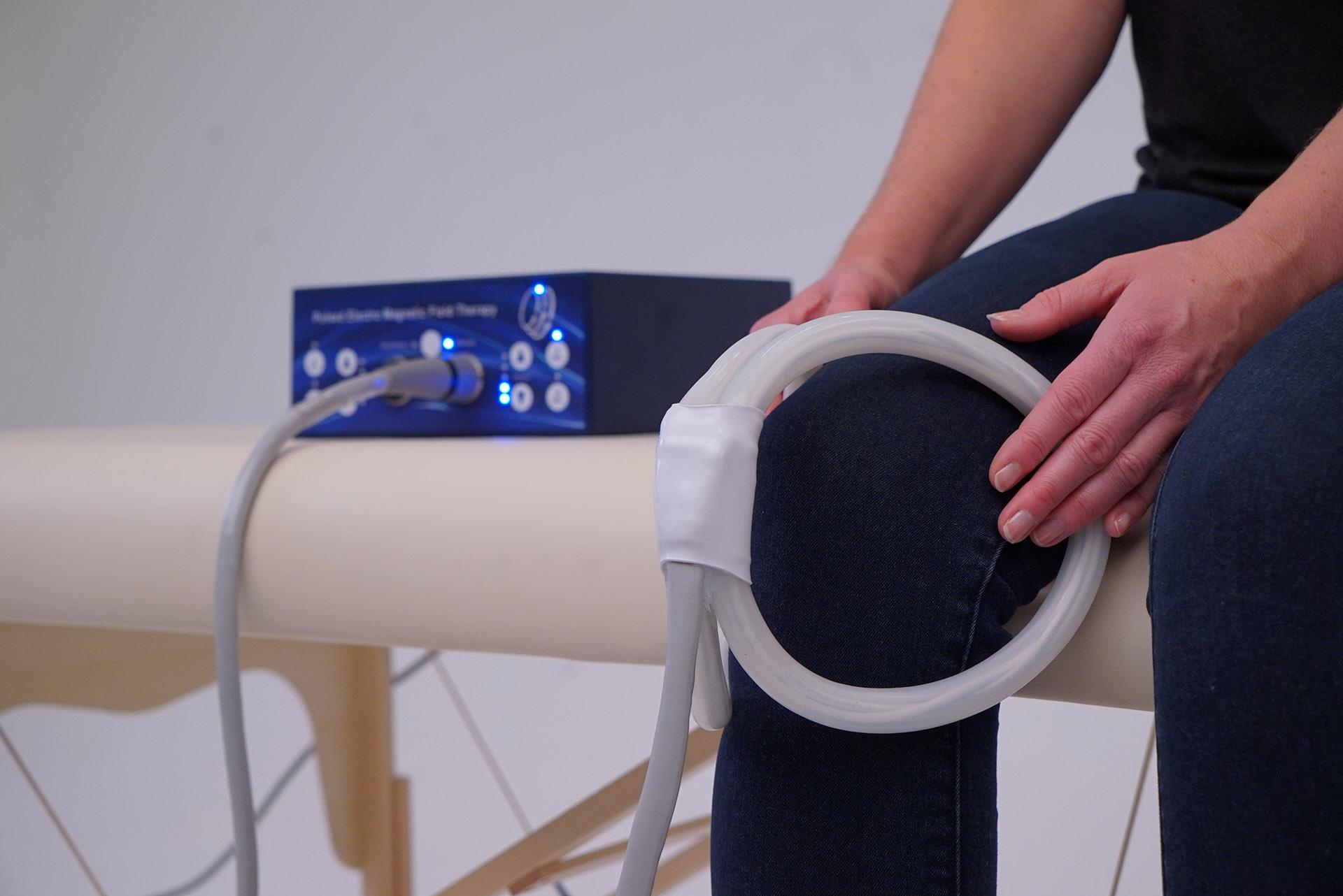 PEMF therapy Knees TeslaFit Duo Butterfly Coil