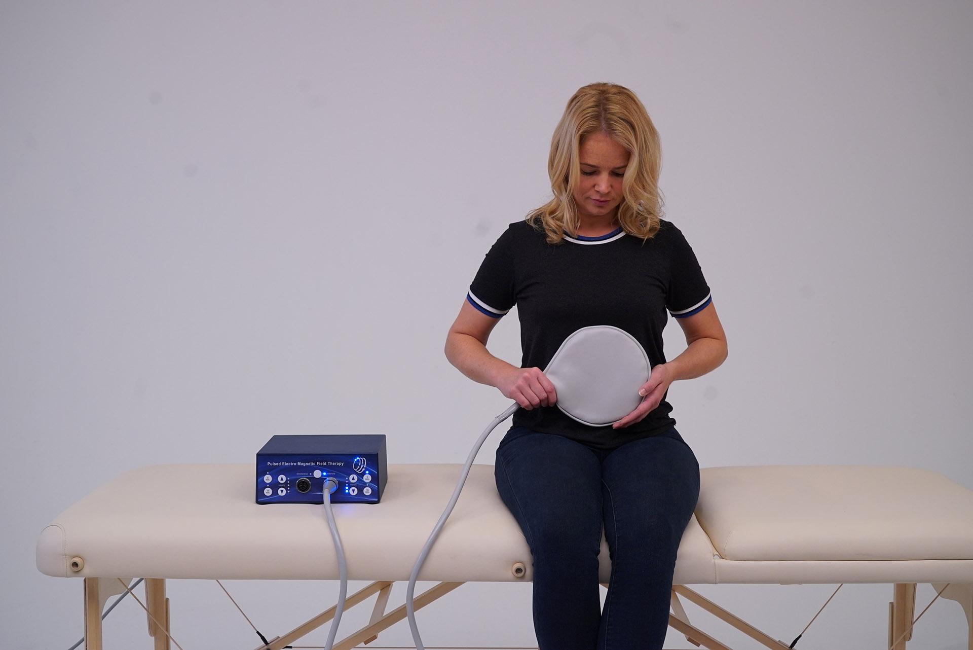 PEMF therapy clinic machine TeslaFit Duo stomach