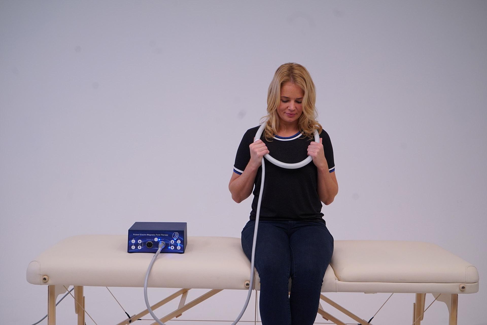 PEMF therapy neck TeslaFit Duo Coil Loop