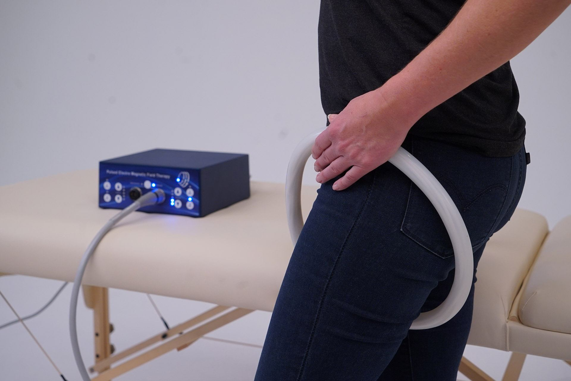 PEMF therapy upper thighs teslafit duo unit coil